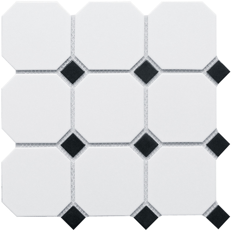 Homework Octagon big White/Black Matt 95х95/25x25