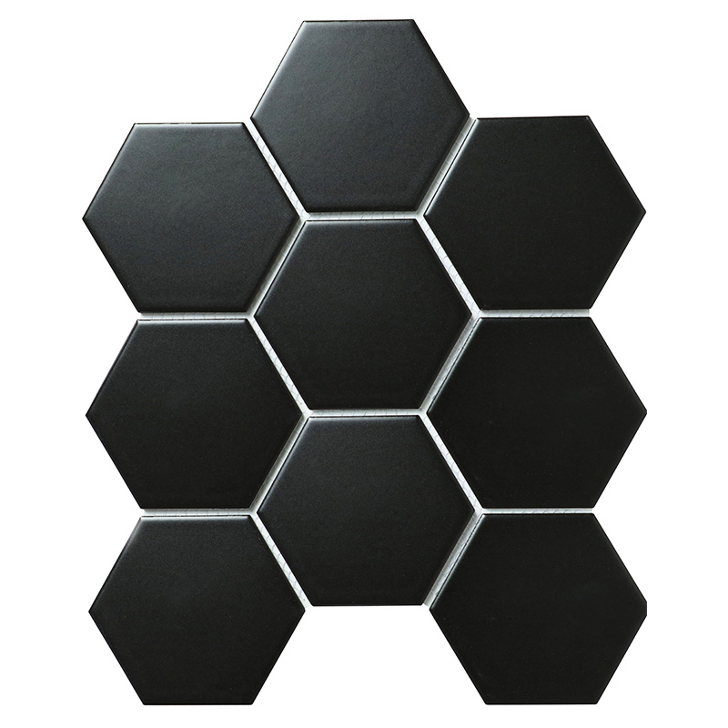 Hexagon big Black Matt 95х110