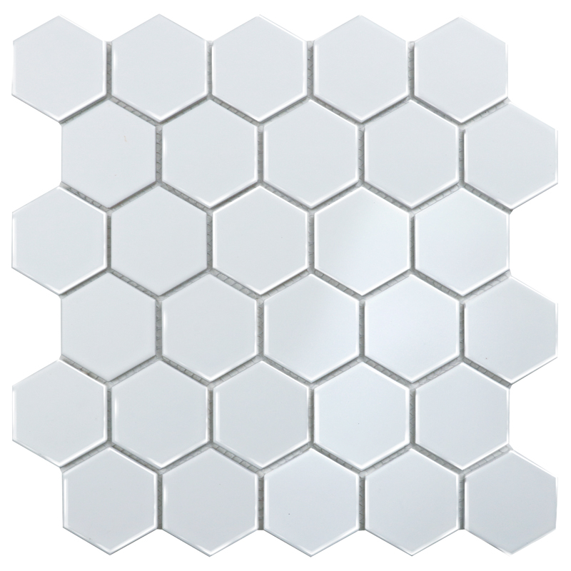 Homework Hexagon small White Glossy 51х57